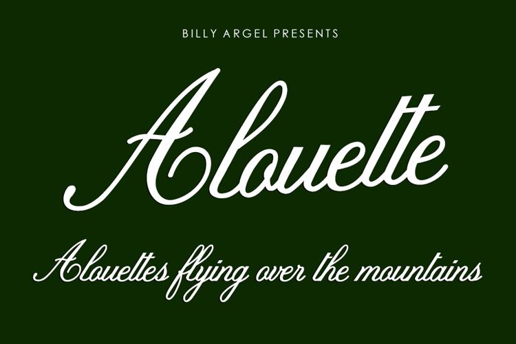 Alouette Font