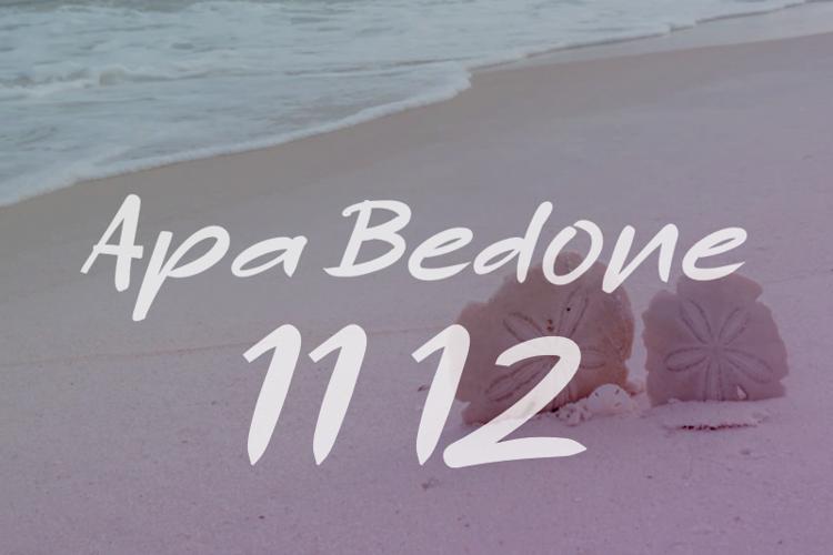a Apa Bedone 11 12 Font