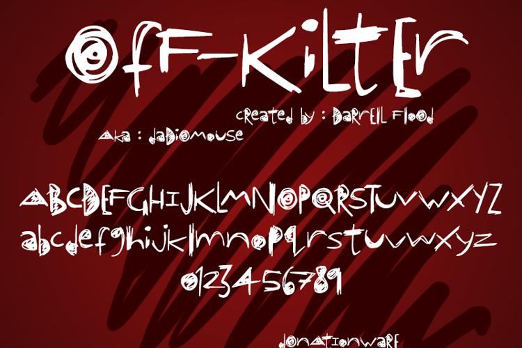 OfF-KiLtEr Font