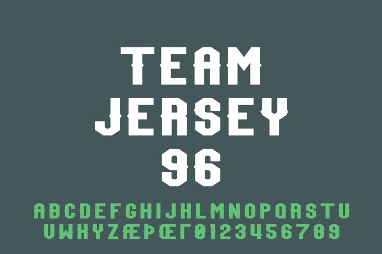 Team Jersey 96 Demo Font