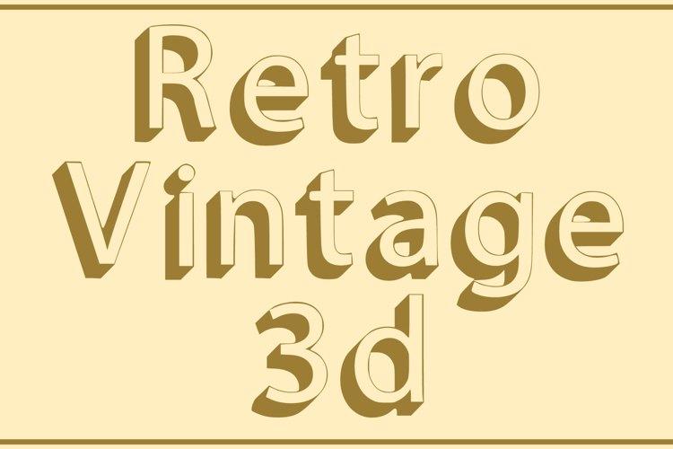 Retro Vintage 3d Font