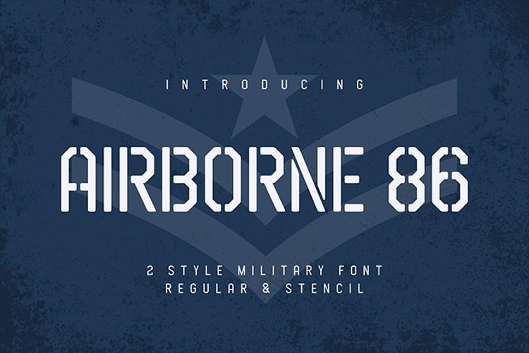 Airborne 86 Stencil Font