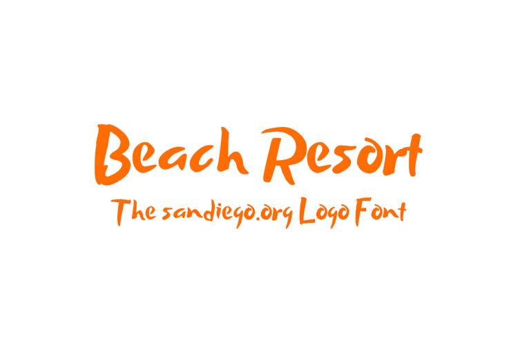 Beach Resort Font