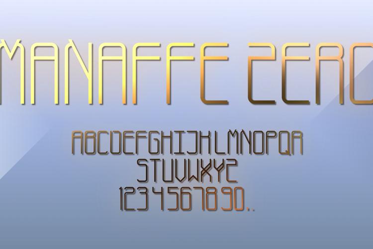 Manaffe-Zero Yunis Font