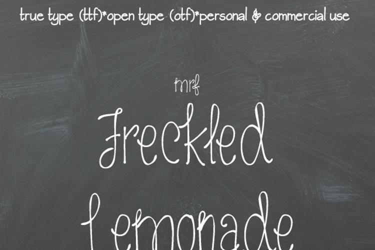 MRF Freckled Lemonade Font