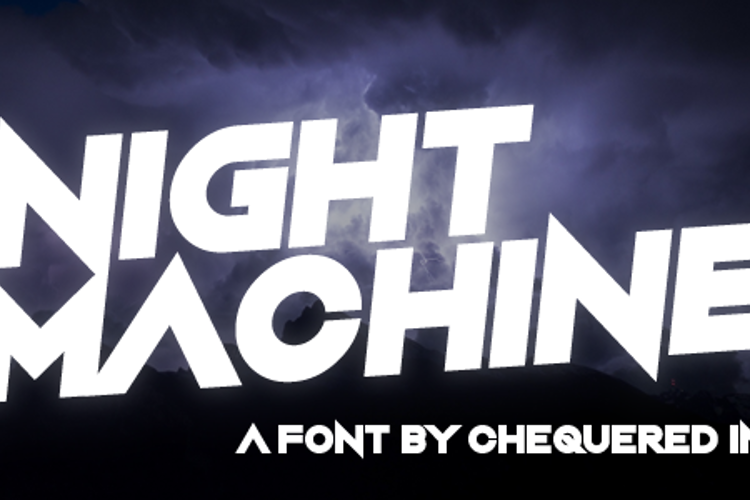 Night Machine Font