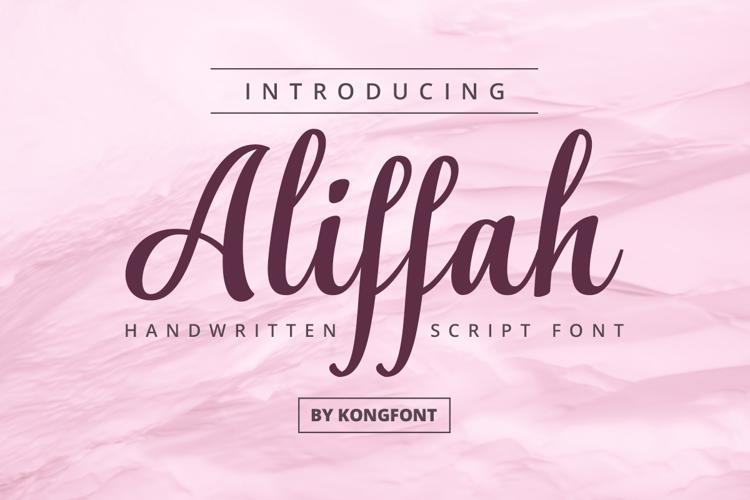 Aliffah Font