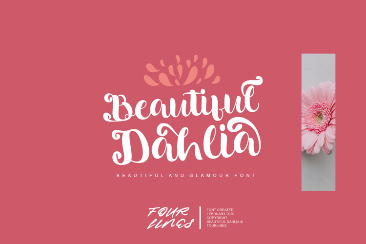 Beautiful Dahlia Font