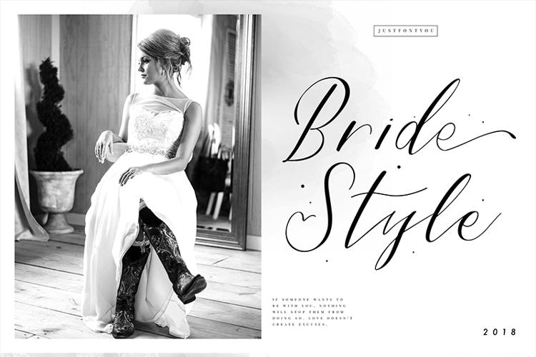 Bride Style Font
