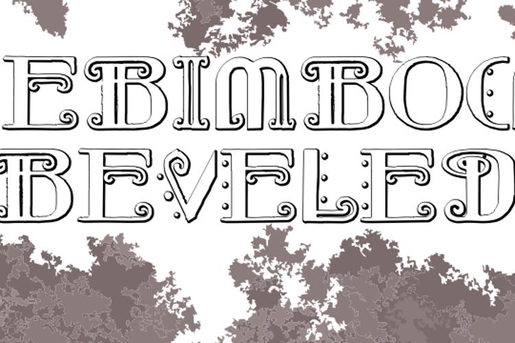 Rebimboca Beveled Font