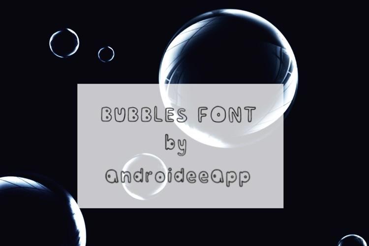 Bubblesfont Font