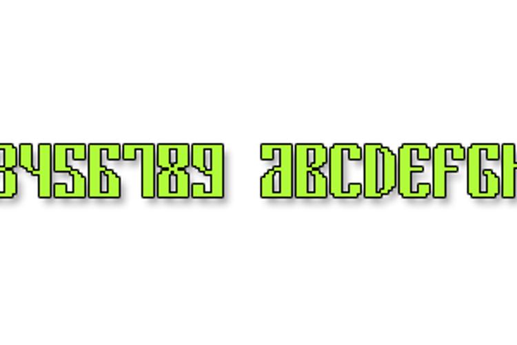 Cyrillic Pixel-7 Font