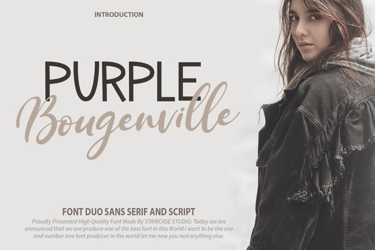 Purple Bougenville Script Font