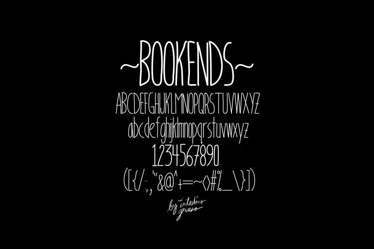 BookendsWithAccents Font
