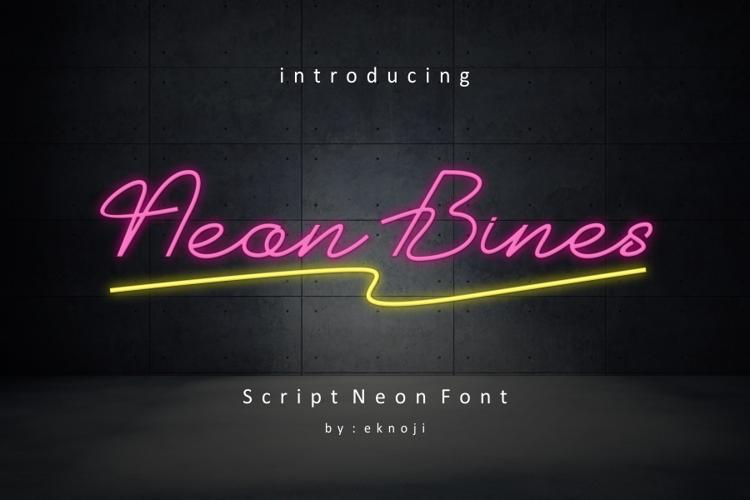 Neon Bines Font