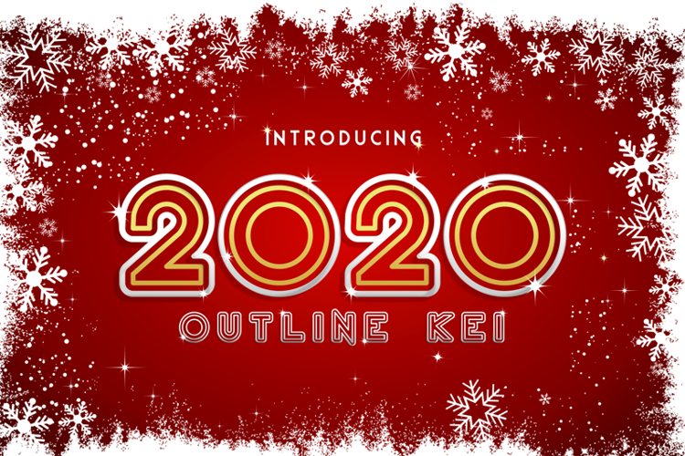 2020 Outline Kei Font