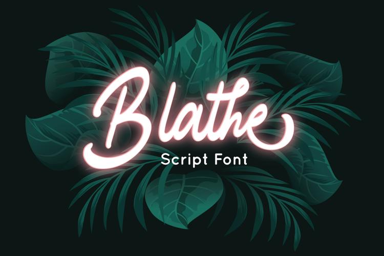 Blathe Font