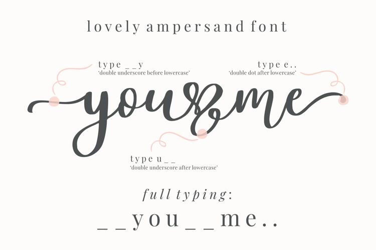 Lovely Ampersand Font