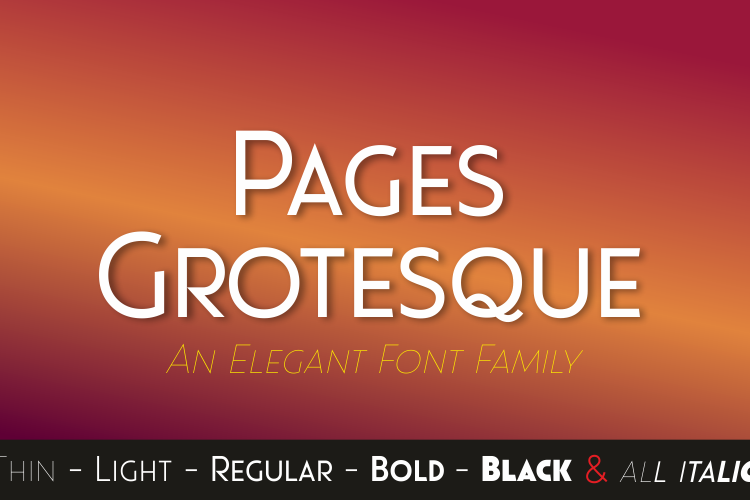 Pages Grotesque (Demo) Font