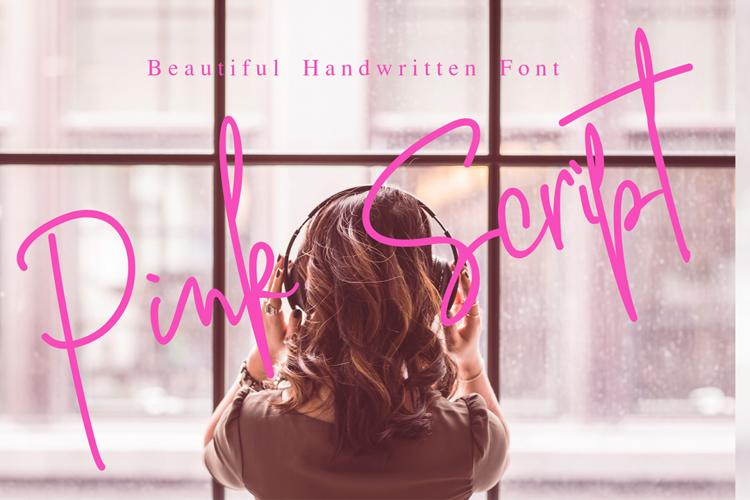 Pink Script Font