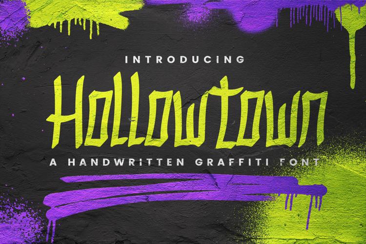 Hollowtown Font