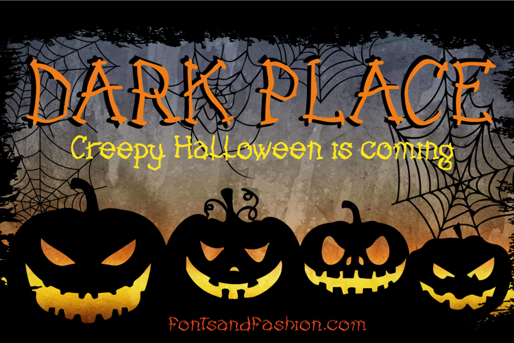 DARK PLACE Font