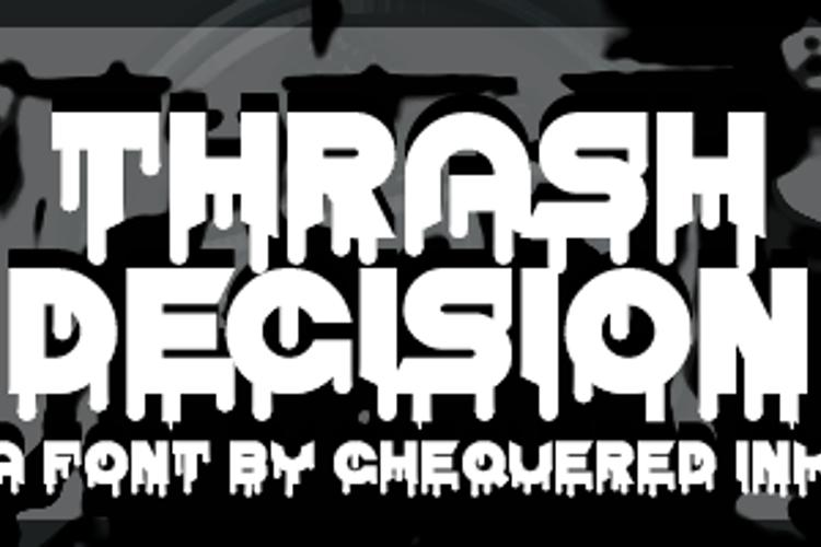 Thrash Decision Font