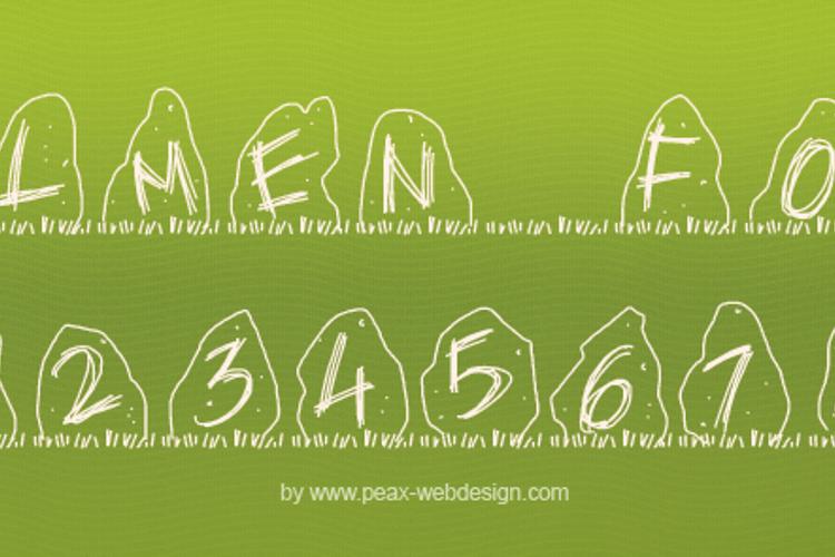 PWDolmen Font