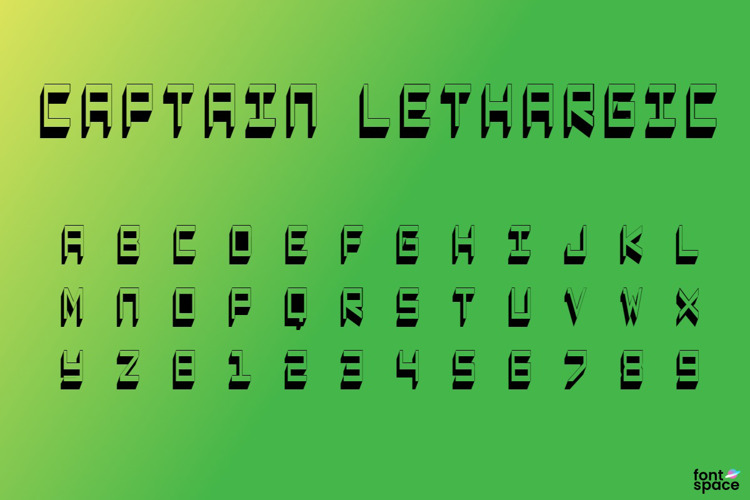 Captain Lethargic Font