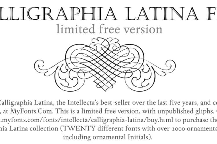 Calligraphia Latina Free Font