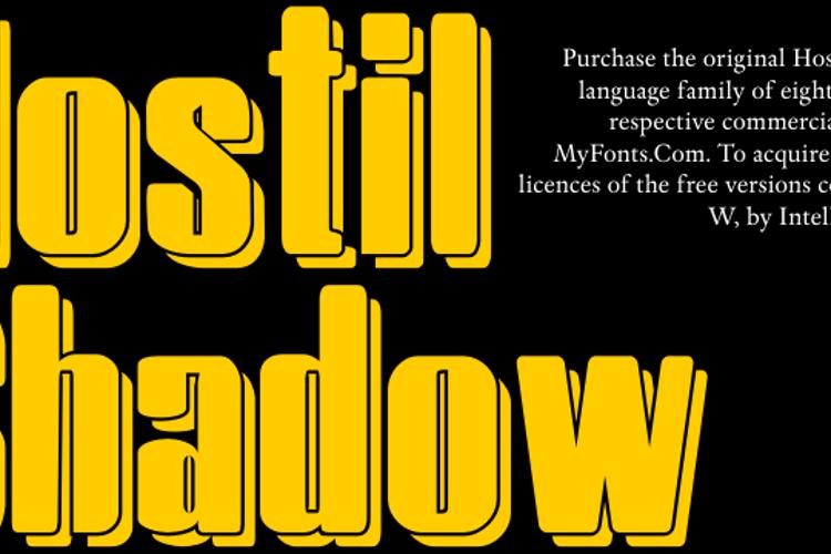 HostilShadow Font