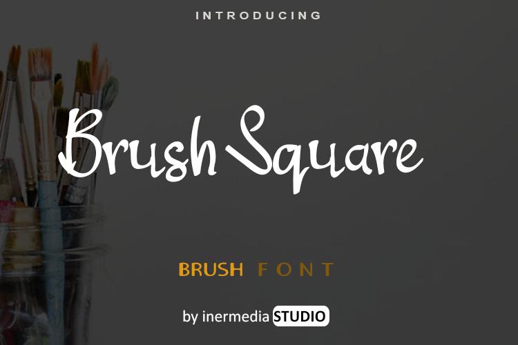 Brush Square Font