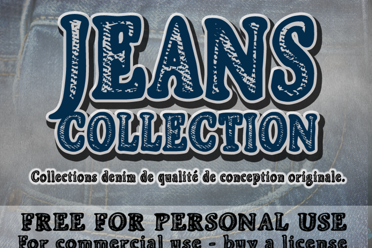 CF Jeans Collection Font