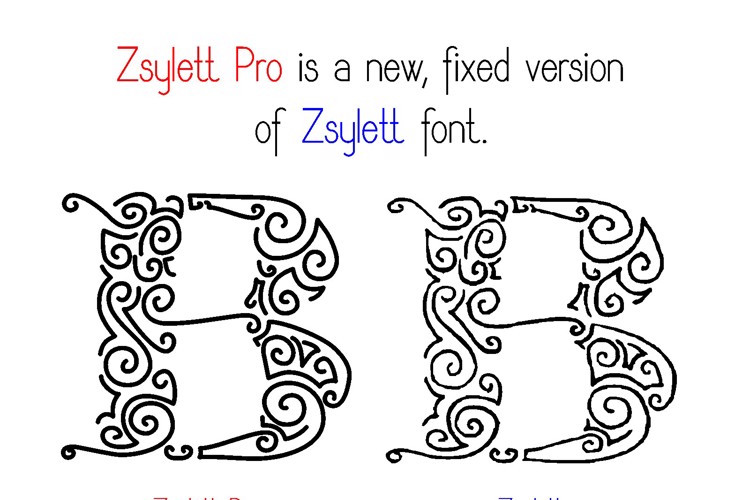 ZsylettPro Font