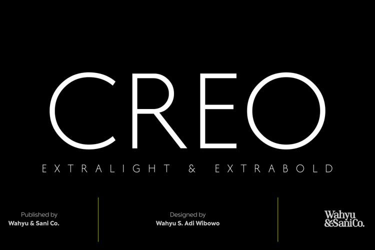 Creo Font
