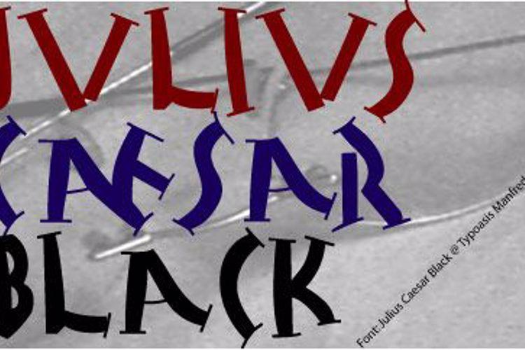 Julius Caesar Black Font