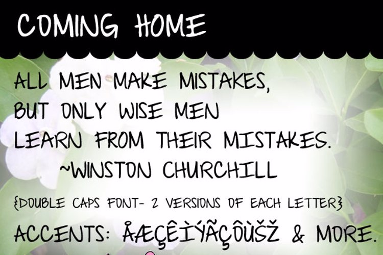 Coming Home Font