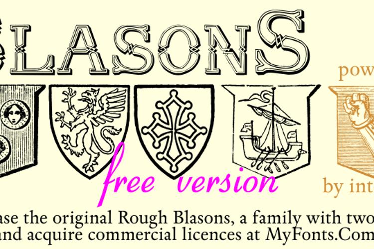 Blasons Free Font