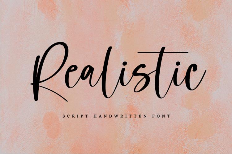 Realistic Font