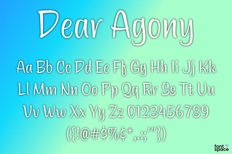 BB Dear Agony Font