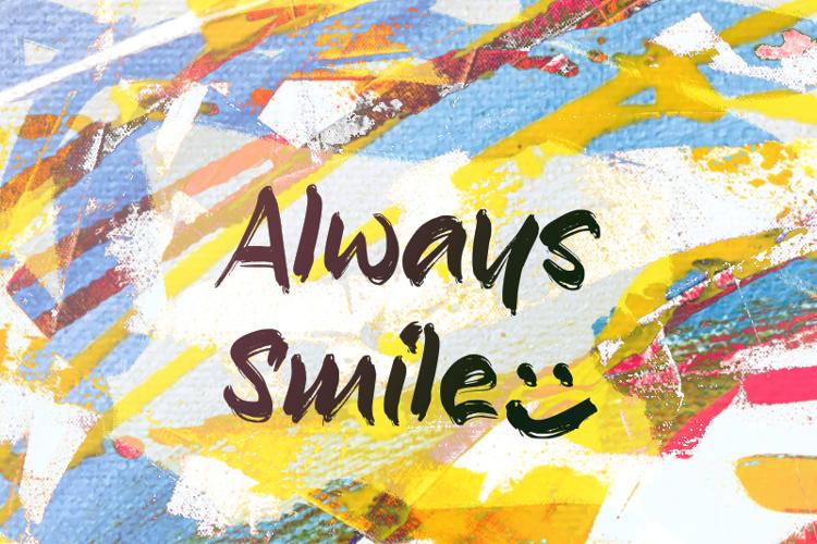 a Always Smile Font