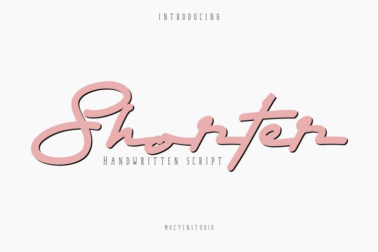 Shorter Font