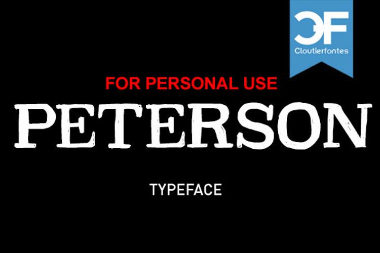 CF Peterson Font