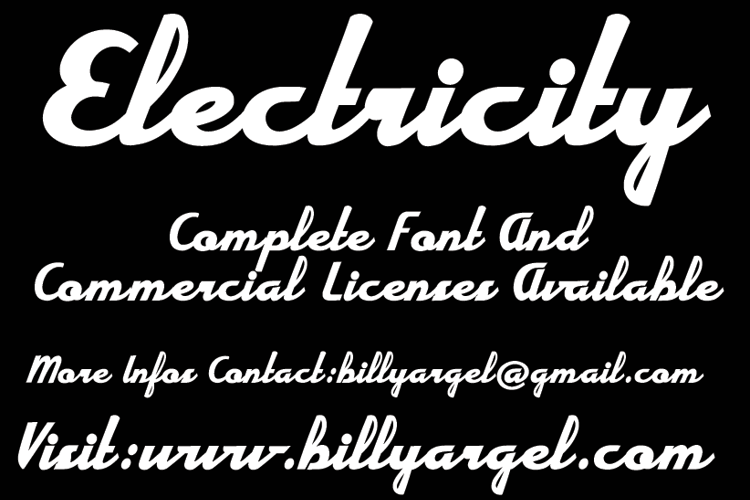 Electricity Font