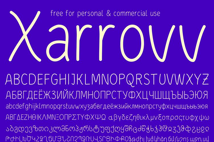 Xarrovv Font