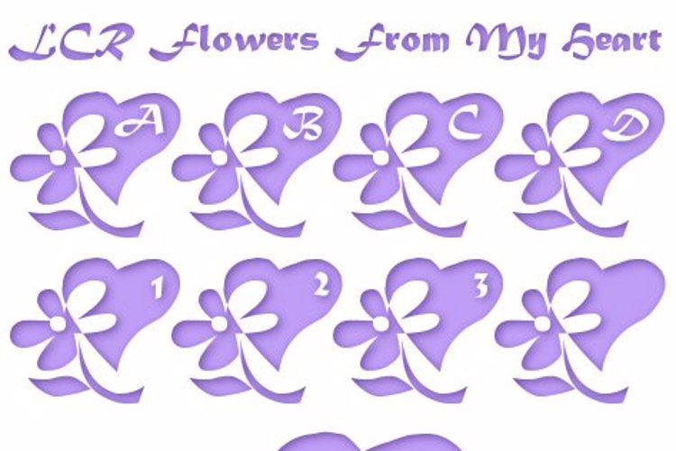 LCR Flowers From My Heart Font