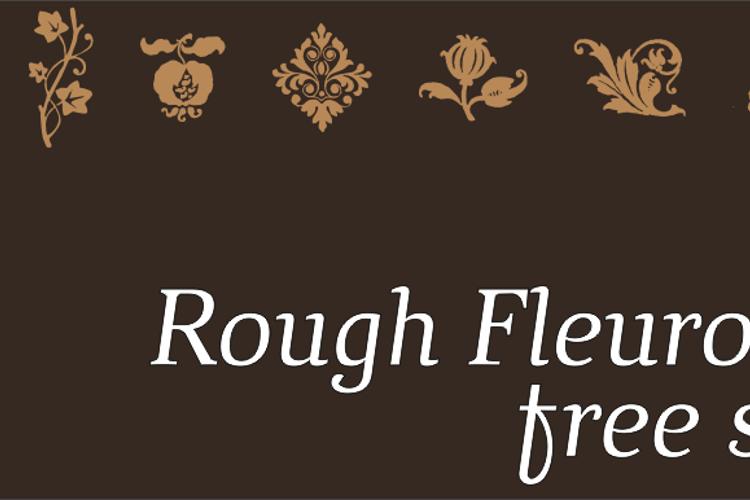 Rough Fleurons Font