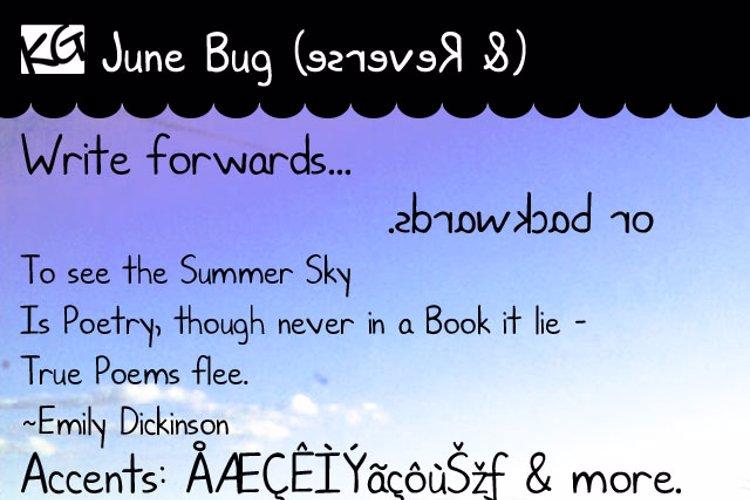 KG June Bug Font