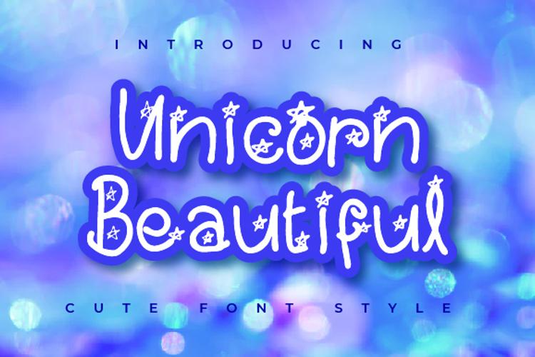 Unicorn Beautifull Font