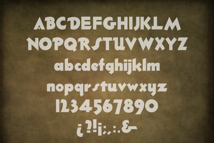 Thick Deco Font